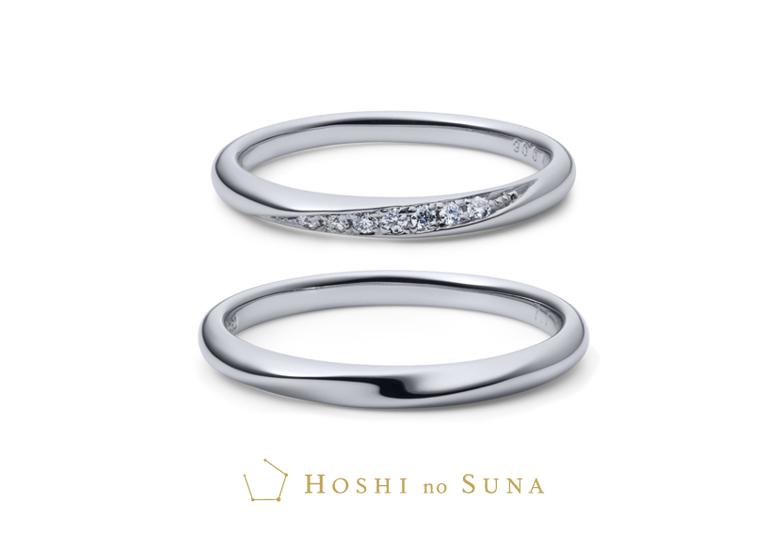 静岡市結婚指輪 星の砂 イリジウム