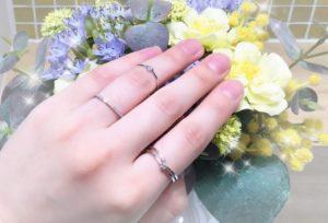 【石川県】小松市 指輪の重ねづけでお洒落ワンランクUP!