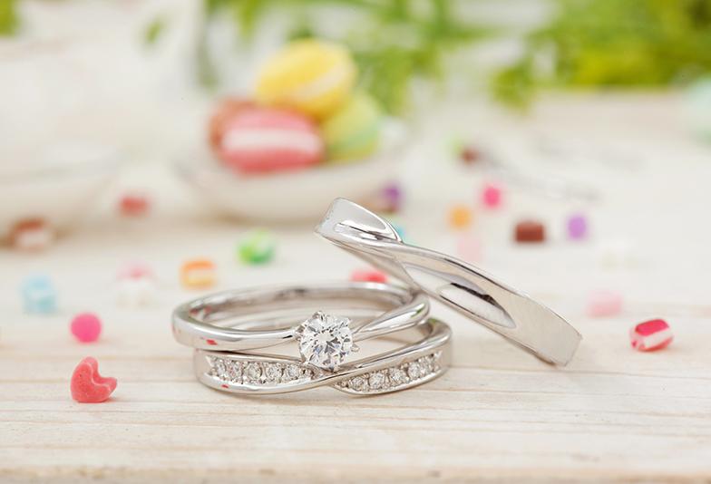 【福岡県久留米市】おしゃれ花嫁は婚約指輪と結婚指輪の重ね付けをしていた♡