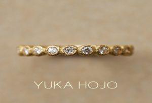 【金沢市】インスタで話題!YUKA HOJOのエタニティリング♡婚約指輪や結婚記念日の贈り物にいかがですか?