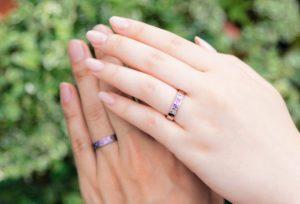 【新潟市】カラーが選べる二人だけの結婚指輪〈SORA ソラ〉