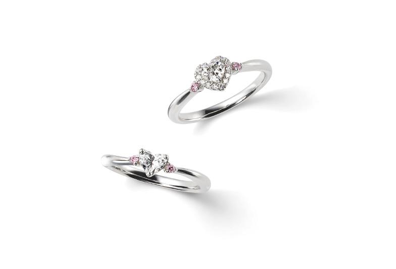 【金沢市】ダイヤモンドがハートの形♡ふっくらかわいい婚約指輪…