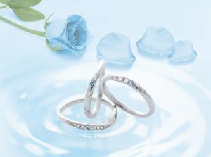 【静岡市】サムシングブルーの願いを叶える結婚指輪!スウィートブルーダイヤモンドに想いを込めて‥