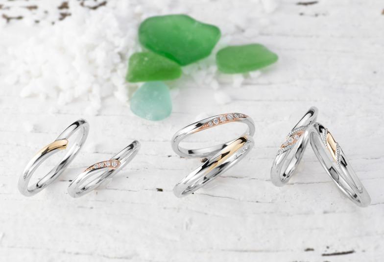 【静岡市】プラチナ?ゴールド?どちらも捨てがたいと迷うならコンビネーションリングの結婚指輪がおすすめ