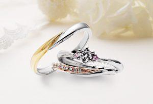 【姫路市】お洒落で可愛い二色使いの婚約指輪