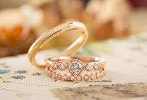 【福岡県久留米市】アンティーク調がかわいい結婚指輪♡SIX PENCE~シックスペンス~