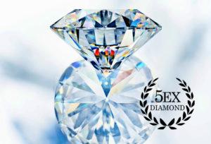 【福山市でプロポーズ】婚約指輪におすすめ!最も綺麗なダイヤモンドが新登場!知っておくべき従来のカット基準を超える5EX(ファイブエクセレント)