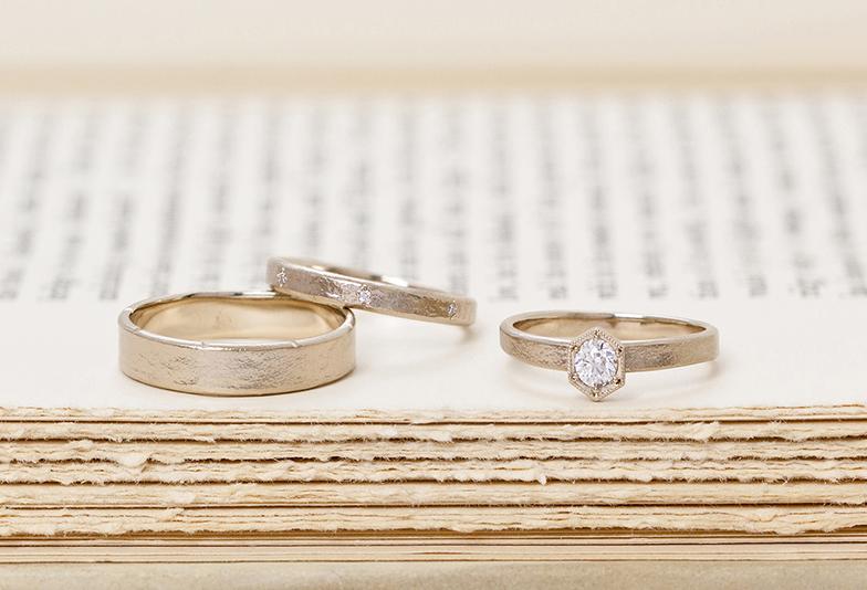 【福山市】お洒落花嫁から大人気!アンティーク調がかわいい結婚指輪♡