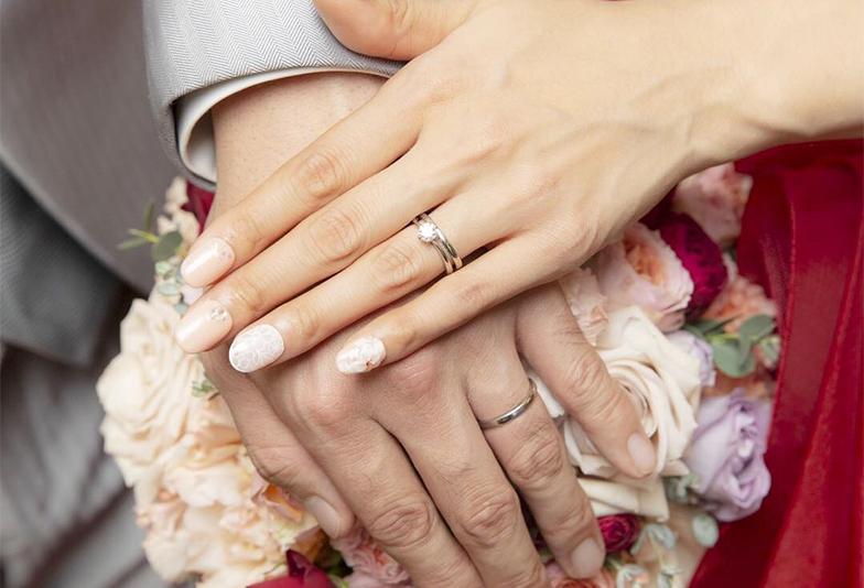 【金沢市】結婚指輪の内側に秘めた、シークレットストーン…