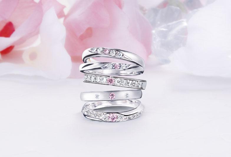 【静岡市】希少価値の高い幻の宝石『ピンクダイヤモンド』が可愛い結婚指輪をご紹介