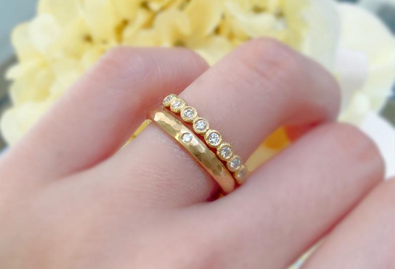 【金沢市】結婚指輪とエタニティーリングの重ね着け