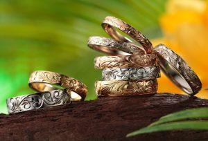 新潟市【ハワイアンジュエリー】の結婚指輪に迫る!彫り柄に込められた意味とは