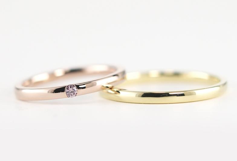 【福岡県久留米市】結婚指輪に優しい色合いのピンクダイアモンド