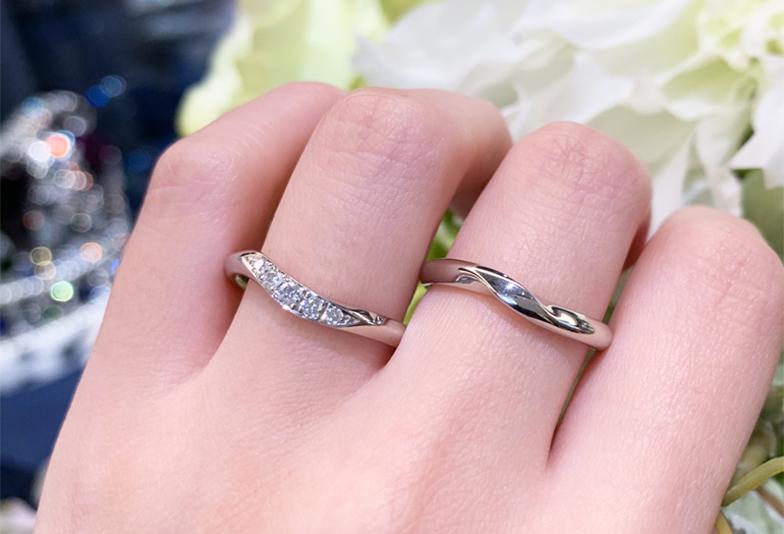 【金沢市】「指が綺麗に見える!」女性人気が高いウェーブの結婚指輪オススメポイント!