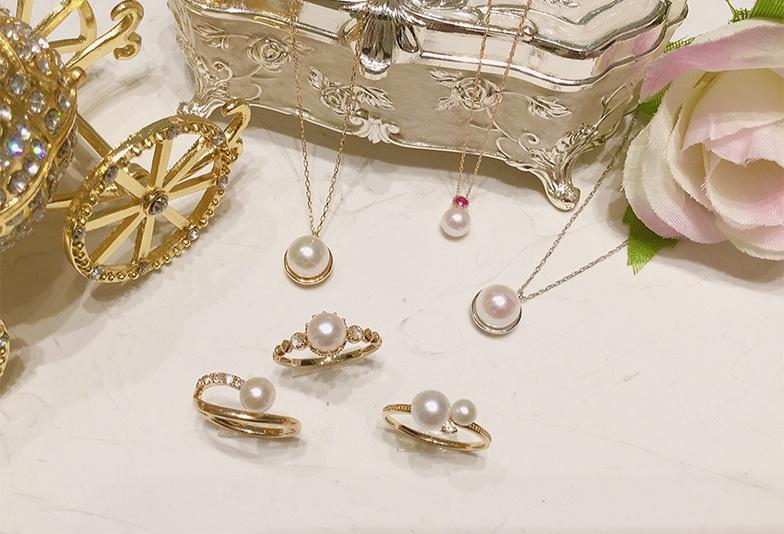 【石川県小松市イオンモール】普段使いしやすい真珠ネックレスやリングで上品コーデ♡