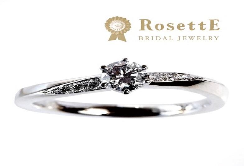 ロゼット月あかりの婚約指輪でプロポーズ
