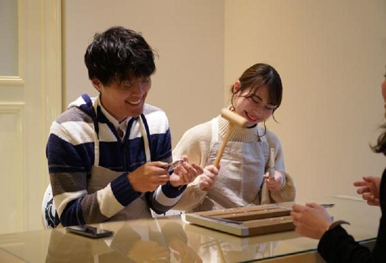 【心斎橋・なんば】自分達で手作りする2人だけのオリジナル結婚指輪(マリンジリング)価格も抑えられるブライダルリング専門店