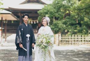 【浜松市】千三百年の歴史を刻む場所で。日本の美しい和モダン挙式