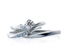 【福島市】贅沢!妥協なく厳選された「アイスブルーダイヤモンド」の婚約指輪と結婚指輪!