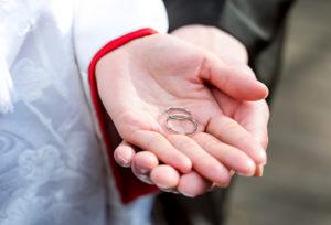 【金沢市】前撮りは、お二人にとって大切な結婚指輪と共に