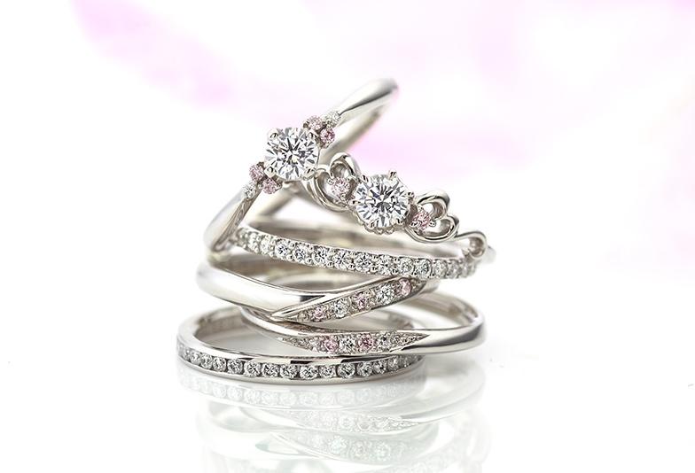 【那覇市】憧れのピンクダイヤモンドを婚約指輪・結婚指輪に!