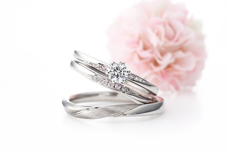 ピンクダイヤモンド結婚指輪 garden梅田