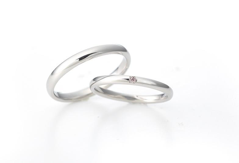 沖縄県ピンクダイヤモンドの結婚指輪