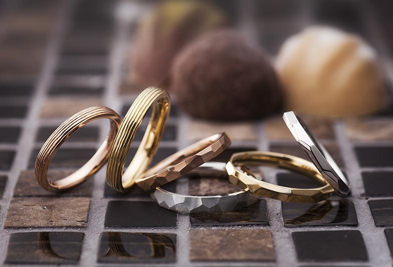 【姫路市】表面加工がオシャレな「PAVEO CHOCOLAT」の結婚指輪