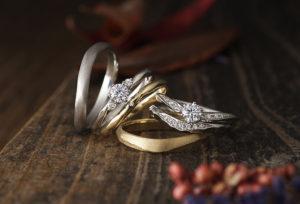 【沖縄県】シンプルな結婚指輪は物足りない…今人気の槌目模様のBAUM『Crape myrtleクレープミルテ』