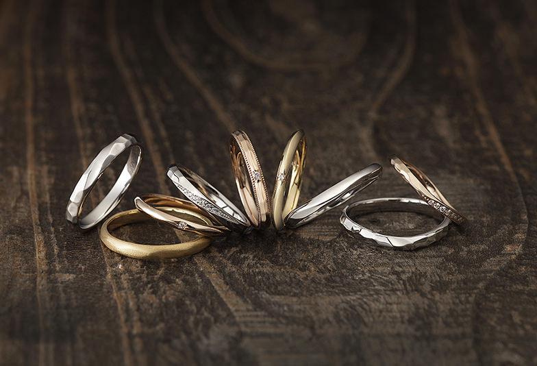【那覇市】槌目模様が個性的!ナチュラルなデザインが人気の結婚指輪ブランド「BAUM」