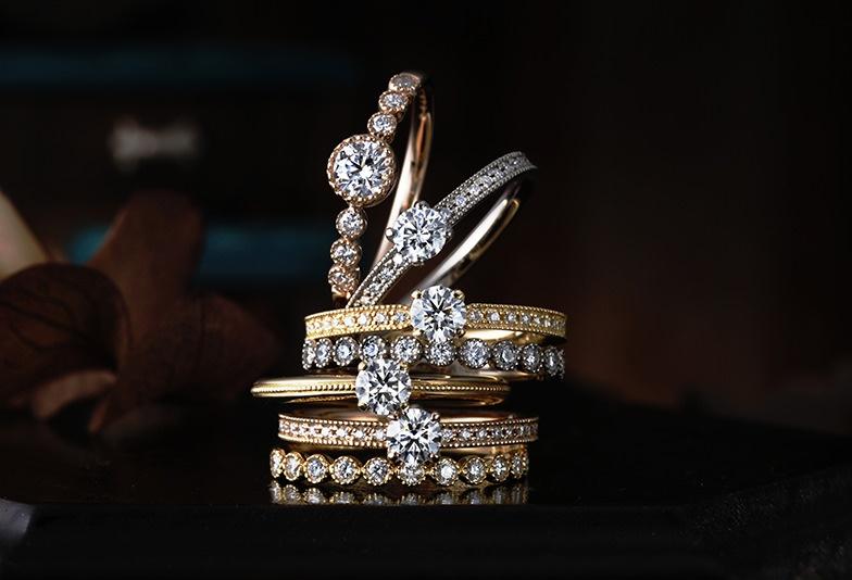 【姫路市】アンテーク調のお洒落な結婚指輪「CHER LUV」