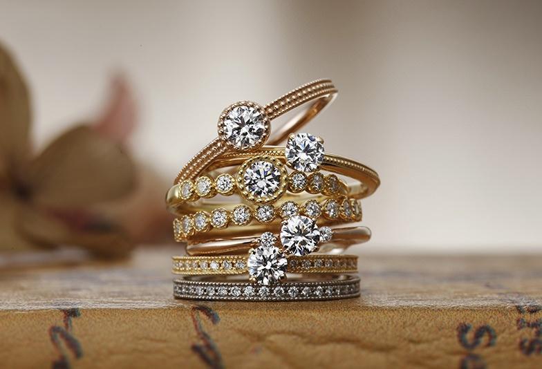 【静岡市】ゴールドでおしゃれ!アンティークの結婚指輪ならこれがおすすめ