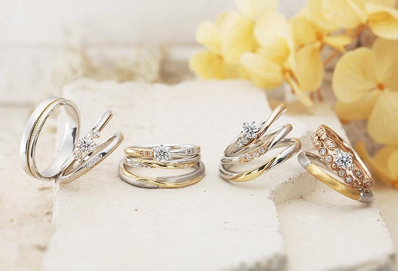 【山形市】さりげなくおしゃれに着けられる、コンビネーションリングの結婚指輪