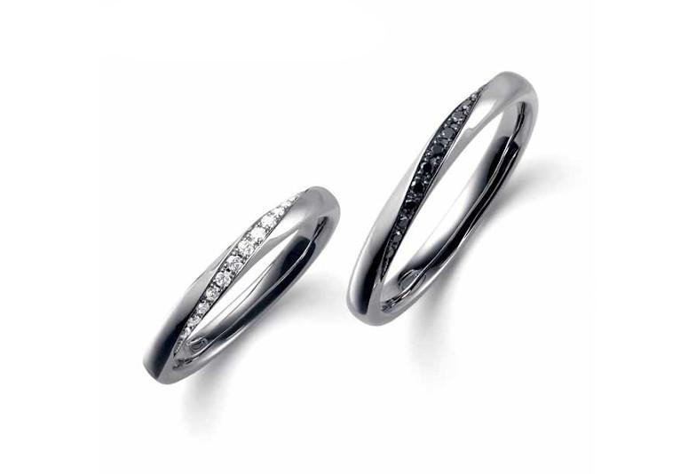 ポンテヴェキオの結婚指輪、金沢市オシャレな結婚指輪、金沢市ブラックダイヤモンド、金沢市男性に人気の結婚指輪、