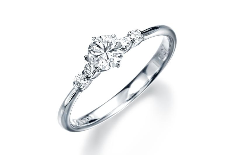 婚約指輪メレ