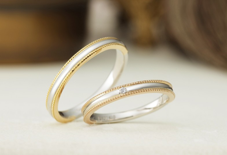 富山市で人気のアンティーク調の結婚指輪