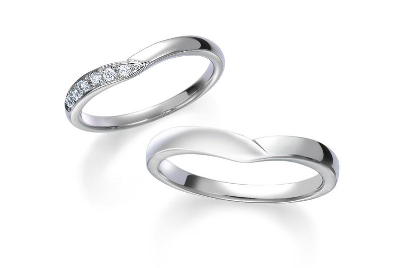 富山市人気のV字ロイヤルアッシャー結婚指輪
