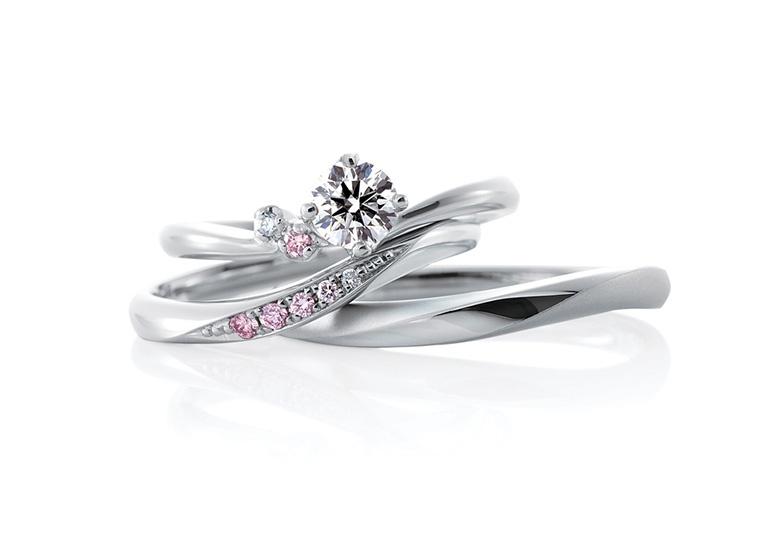 カフェリング婚約指輪結婚指輪セットリング
