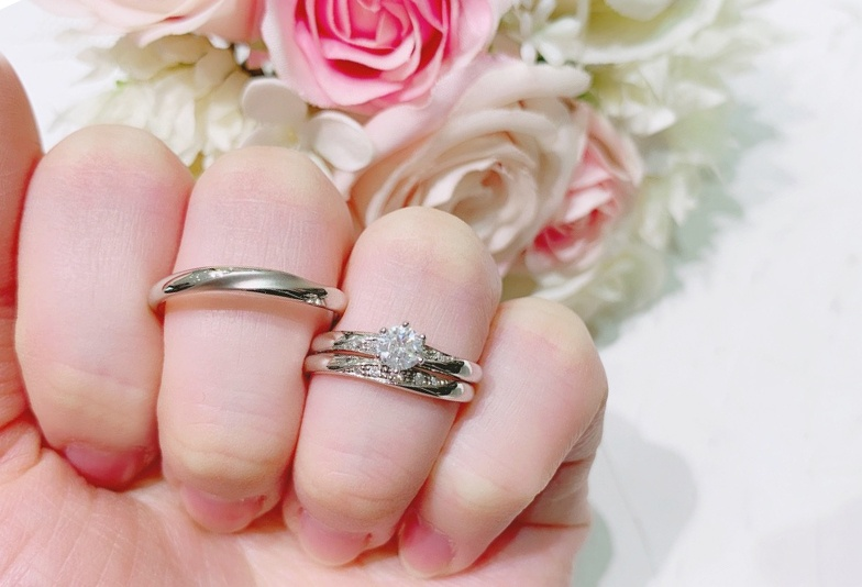 【金沢市】人気!婚約指輪と結婚指輪のセットリングで重ねづけを楽しもう