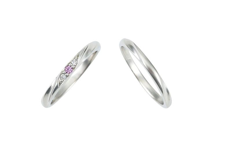 福井市ベルで人気のピンクドルフィンの結婚指輪