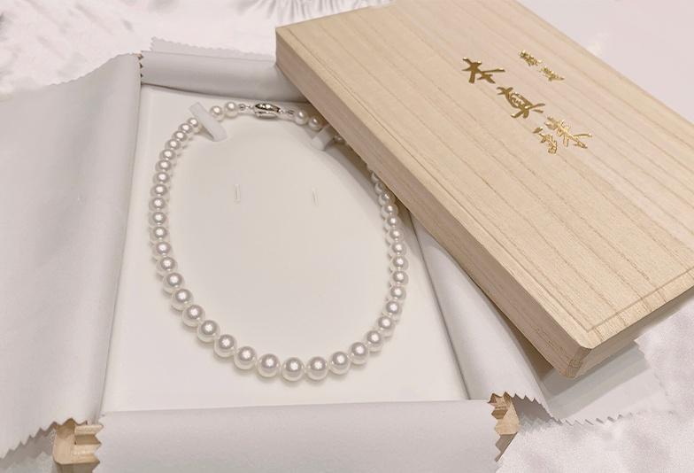 【石川県小松市イオンモール】デリケートな真珠ネックレス。美しい輝きを保つ「PS加工」とは?