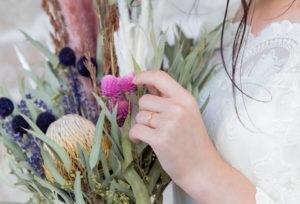 【荒尾市】ゴールドでおしゃれ感アップ☆婚約指輪は普段でも使いやすくできる