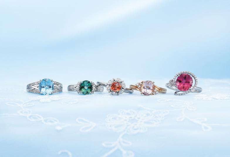 【徳島県・徳島市】婚約指輪にカラーストーンで魅了ある婚約指輪に...