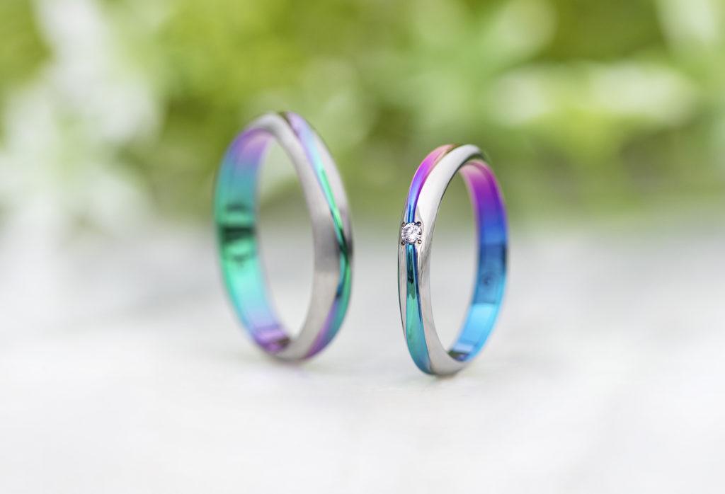 【静岡市】個性を出したい方におすすめ!カラフルでアレルギーフリーな新素材の結婚指輪とは?