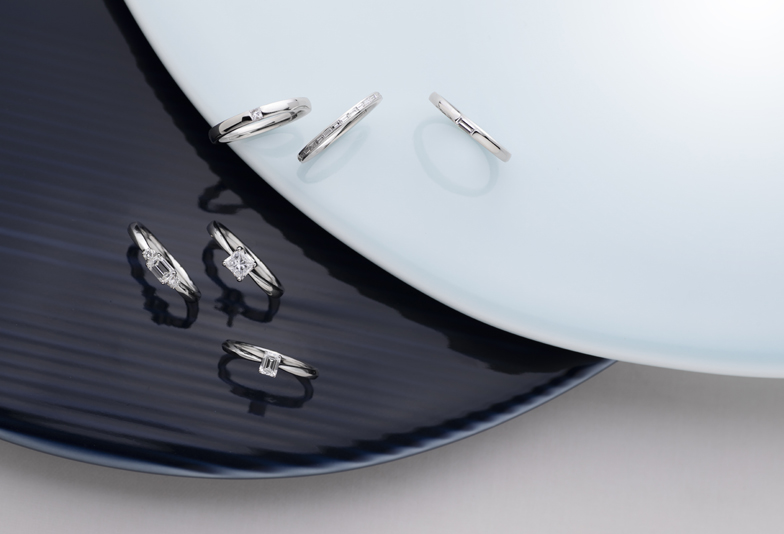 【静岡市】おしゃれな女性に贈りたい婚約指輪!RECIPIENT(レシピエント)のスクエア型ダイヤモンドがおススメです