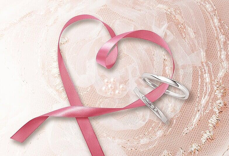 【静岡市】可愛い結婚指輪を探している方注目!ピンクダイヤモンドが施された結婚指輪が人気!