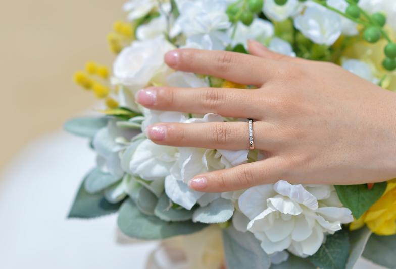 【浜松市】優しい風合いが人気!結婚指輪にはCHOUCHOUNAシュシュナのハーフエタニティリング