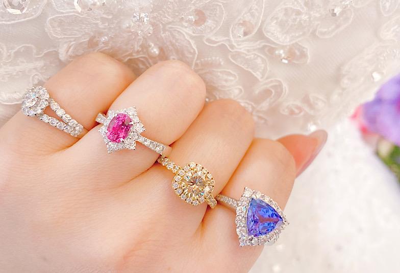 神戸・三ノ宮 カラーストーンで個性的で魅力ある婚約指輪にしませんか?