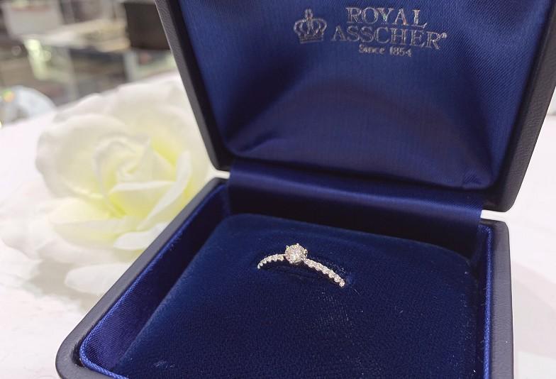 【石川県小松市イオンモール】婚約指輪は世界でただひとつロイヤルの称号をもつ「ROYAL ASSCHER」で決まり!