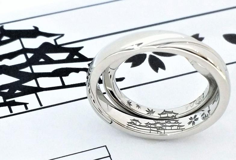 浜松市結婚指輪オリジナル刻印